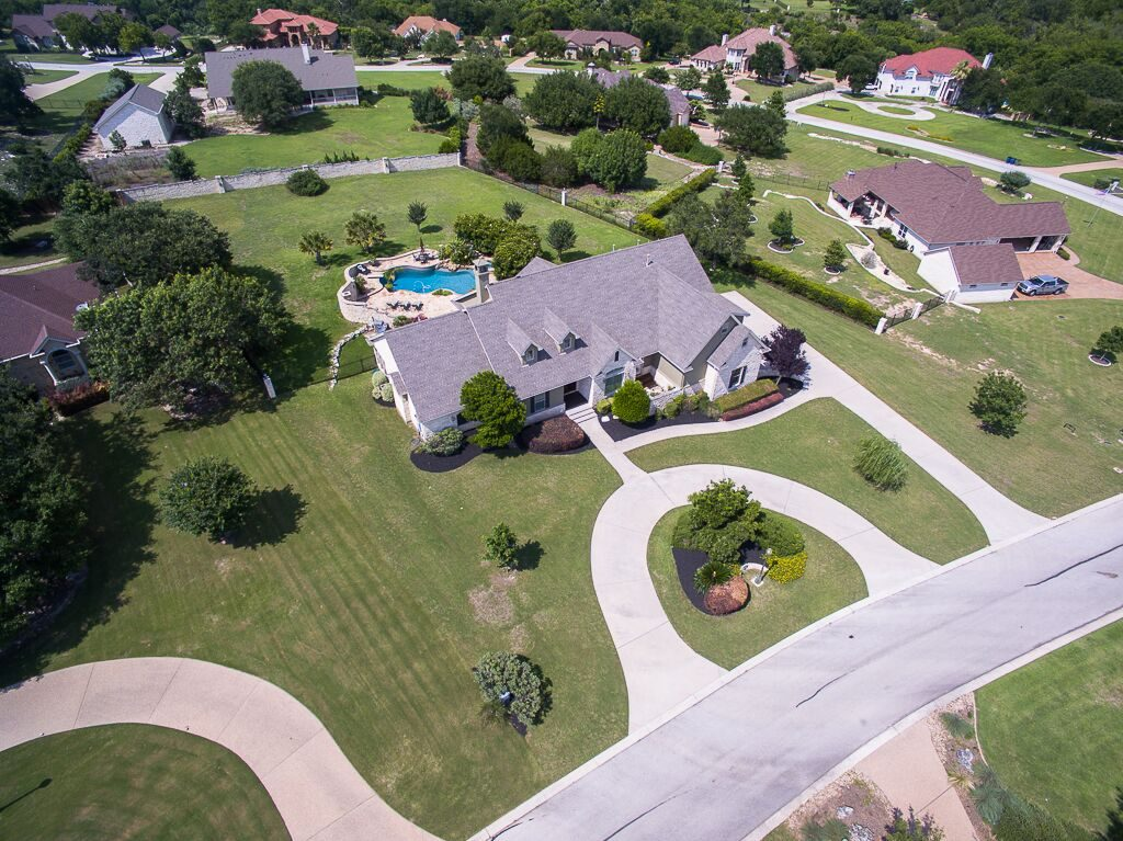 Aerial of Whispering Spring with Pool